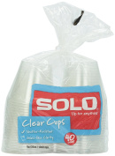 Solo Clear Plastic Cups, 270ml, 40 ct