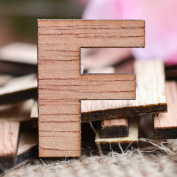 Wood Letters F 2.5cm - Rustic Wedding Decor