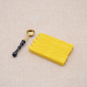 5pcs Yellow Colour Sealing Wax Stick + 1pc Sealing Wax Spoon for Wedding Invitation Envelope Decoration