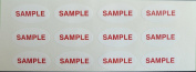 Minilabel Promotional Stickers, Sample, 40X20Mm Oval Selfadhesive Postal Labels