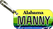 Personalised Alabama 2014 Zipper Pull State Licence Plate Replica