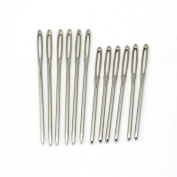 Hot 12PCs Stainless Steel Knitting Needles Needlework Sewing Tool Needle Arts & Crafts Hand Stitches Sewing Accessories 7cm 6cm