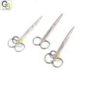G.S 3 PCS STAINLESS STEEL MAYO DISSECTING SCISSORS 14cm STRAIGHT ECONOMY GRADE BEST QUALITY