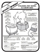 Folding Pet Bowl & Chow Bag Container #558 Sewing Pattern