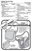 Village Courier Bag Messenger Bag Purse #555 Sewing Pattern