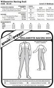 Willamette Racing Running Sport Suit #408 Sewing Pattern