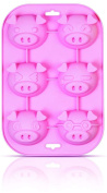 YONGER Silicone DIY Cute Pig Bakeware Mould For Muffin,Cake, Chocolate, Jelly, Pudding, Dessert Moulds