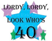 5.1cm Round - Lordy Lordy Look Who's 40 Birthday - Edible Cake/Cupcake Party Topper!!!