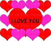 1/2 Sheet - Happy Valentine's Day Hearts - Edible Cake/Cupcake Party Topper!!!