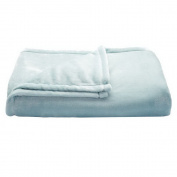 The Big One Oversized Plush Throw (Light Blue Solid) - 1.5m x 1.8m Super Soft and Cosy Micro-Fleece Blanket for couch or bedroom