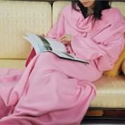 Vktech® Supper Home Winter Warm Fleece Snuggie Blanket Robe Cloak with Sleeves