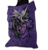 DRAGON BEAUTY Polar Fleece Blanket / Throw 120cm x 150cm by ANNE STOKES Official Merchandise