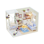Dollhouse Miniature DIY Kit Cover Dream Love Secret Bedroom Room House PINK for X'mas Valentine's gift