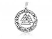 925 Sterling Silver Celtic Infinity Knots Nordic Norse Valknut Viking Odin Pendant