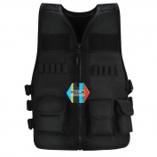 Pellor Outdoor Kids/Children Nylon Tactical Vest Security Guard Waistcoat Combat Training Protective Vest Boys Costumes