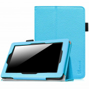 Fintie Folio Case for Fire HD 7 Tablet (2014 Oct Release) - Slim Fit Leather Standing Protective Cover with Auto Sleep/Wake Feature (will only fit Fire HD 7 4th Generation 2014 model), Blue