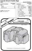Cascade Bicycle Saddle Bags #201 Sewing Pattern