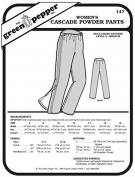 Women's Cascade Powder Snow Pants #147 Sewing Pattern