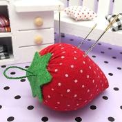 Ioffersuper 2Pcs Cute Strawberry Style Pin Cushion Pillow Needles Holder Sewing Craft Kit