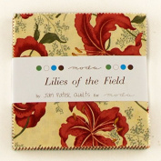 Moda Charm Pack Lilies of the Field - pre cut 13cm squares 100% cotton fabric supplier_myfabricaddiction1