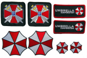 Resident Evil Umbrella Corporation Costume Cosplay Patches Set of 8