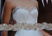 Rhinestone Applique Gold,Bridal Sash, Wedding Dress Sash, Belt, Rhinestone Wedding Sash