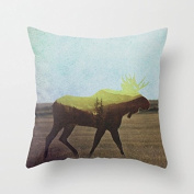 Canvas Moose Decorative Throw Pillows Cushion Case Covers Home Decor Throw Pillows for Couch