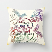 Floral Pillow Covers Decorative Throw Pillows Couch Decor Cushion Covers 18 x 18 Bithday Gifts