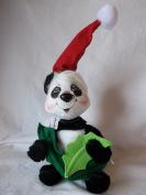 Annalee Holiday Panda with Mistletoe 23cm Tall Christmas / Holiday Decoration