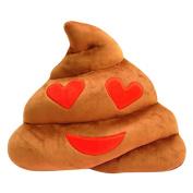 Gotoole Soft Cute Emoji Emoticon Fun Poo Plush Toys Doll Throw Pillow Cushion
