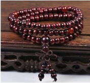 HAO Sandalwood Buddhist Buddha Meditation 8mm*108 Prayer Bead Mala Bracelet/Necklace