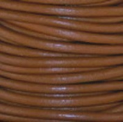 """#13 Light Brown Round Leather Cord 3mm (1/8"""") x 10 metres"""
