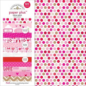 Doodlebug 5174 Paper Plus Value Supplies (12 Pack), 30cm x 30cm , Love, Multicolor