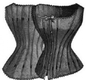 1886 Lady's Corset Waist/Cover Pattern - 80cm Bust - 60cm Waist