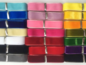 Chenkou Craft 20 Yards 1.6cm Velvet Ribbon Total 20 Colours Assorted Lots Bulk