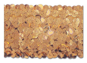 Gold 5.1cm Stretch Sequin - Low Price. 10 Yards