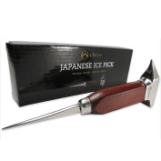 Añejo Ice Pick 18cm Stainless Steel Wood Handle, Crusher Anvil head. Great Gift Idea for Bar and Kitchen. Perfect for carving your own Whiskey Ice Balls.