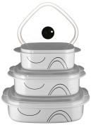 Corelle Coordinates Simple Lines 6-Piece Microwave Cookware Set, New