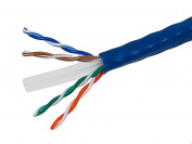 Monoprice Cat6 Bulk Bare Copper Ethernet Cable, UTP, Stranded, In-Wall Rated (CM), 550MHz