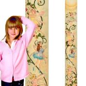 Growth Chart Art | Baby Shower Gift | Flower Growth Chart for Girls | Wooden Height Chart | Flower Fairies