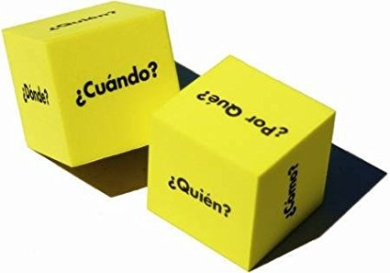 Spanish Question Dice (Set of two 5.1cm Dice)