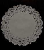 Ioffersuper 80pcs Lace Doily Wedding Party Cupcake Cake Cookies Round Paper Pads Placemat 19cm