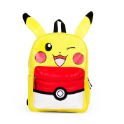Pokemon Pikachu 41cm Backpack with Pokeball Puffed Pocket - Kids