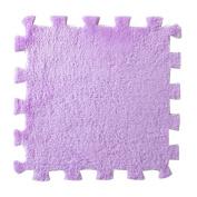 1PC Furry EVA Foam Puzzles Mat 3030CM, SUPPION Baby Bedroom Splice Floor Puzzles Purple