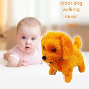 Children Toys DZT1968 Music Light Cute Robotic Electronic Walking Pet Dog Puppy Kids Toy 16CM