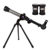 VKOPA Astronomy Science Kit Telescope Toy Educational Toy Scope Learning Toy for Science Kid 20x-40x