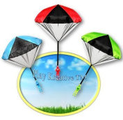 Light Up Paratrooper Parachute - Kids Tangle Free Hand Throwing Parachute Action Figure - Play Kreative TM