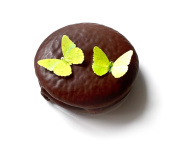 24 Yellow Edible Wafer Paper Butterflies © Mini Very Small 2.5cm Cake Cupcake Toppers Decoration