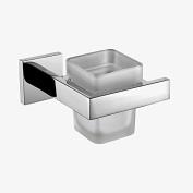 AUSWIND Wall Mount Solid Square Toothbrush holder Stainless Steel Bathroom Tumbler