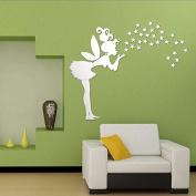 . 52cm Fairy Wall Stickers Stars Girl Mirror Wall Decal Art Home Decoration // 52cm vinilos decorativos hadas Estrellas espejo de pared chica de arte calcomanía decoración del hogar